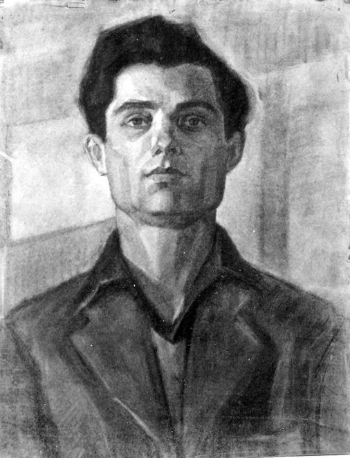 Βασίλης Σίμος. Προσωπογραφία , 1953 , κάρβουνο σε χαρτί , 70x50