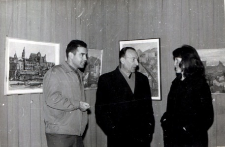 1960 Ο Βασίλης Σίμος με τον Ελληνα πρέσβη στην έκθεση