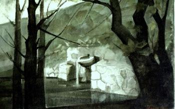 Βασίλης Σίμος Κοπάνα 1979 Λάδι σε μουσαμά 75x100