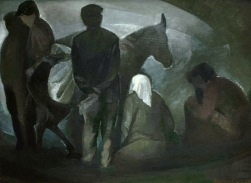 Βασίλης Σίμος Αγροτικό 1983 Λάδι σε μουσαμά 60x90