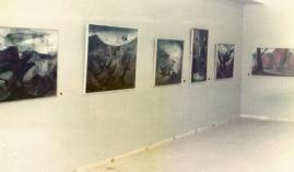 1973 Απόψη της εκθεσης στο φουαγίε του Δημ Θεάτρου Λαμίας (Από το αρχείο Βασίλη & Φιορίνας Σίμου)