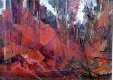 Βασίλης Σίμος,2009 Θρίαμβος , ακρυλικό σε μουσαμά , 35x50