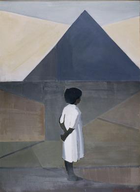 Βασίλης Σίμος , Μόνο ,1963, λάδι σε μουσαμά, 90x65