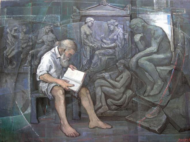 Βασίλης Σίμος , 2004 , ακρυλικό σε μουσαμά ,100x130