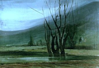 Βασίλης Σίμος , 1979, Δέντρα , λάδι σε μουσαμά ,60x90